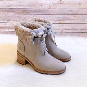 Timberland Taupe Sienna High Waterproof Mid Boots